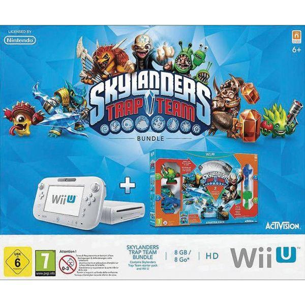 Nintendo Wii U Basic Set 8GB, white + Skylanders: Trap Team (Starter Pack)
