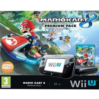 Nintendo Wii U Premium Pack Black 32 GB + Mario Kart 8