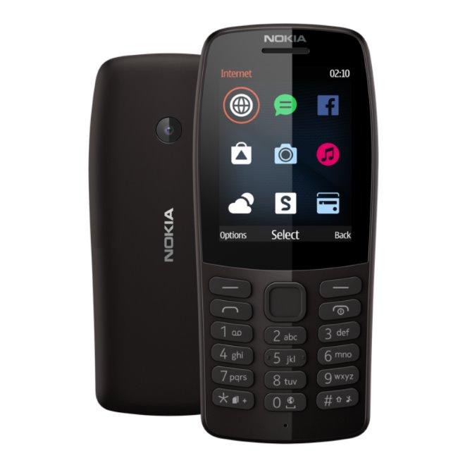 Nokia 210, Dual SIM, black NOK-029300