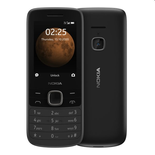 Nokia 225 4G, Dual SIM, black 225 4G DS Black