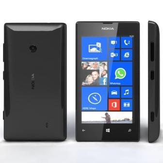 Nokia Lumia 520, WindowsPhone 8   Black, Trieda C - použité, záruka 12 mesiacov