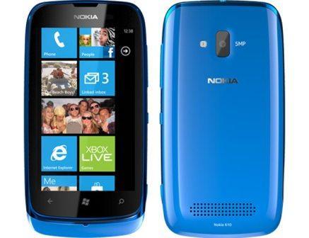 Nokia Lumia 610, 8GB | Blue, Trieda C - použité, záruka 12 mesiacov