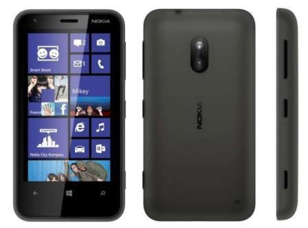 Nokia Lumia 620, WindowsPhone 8 | Black, Trieda B - použité, záruka 12 mesiacov