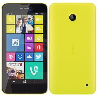 Nokia Lumia 635, WindowsPhone 8   Yellow, Trieda C - použité, záruka 12 mesiacov