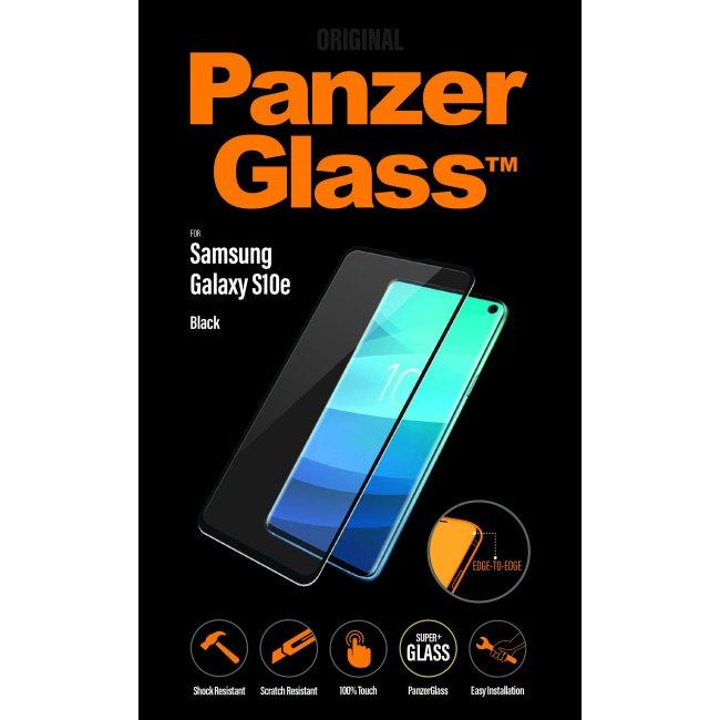 Ochranné sklo PanzerGlass na celý displej pre Samsung Galaxy S10e - G970F, čierne
