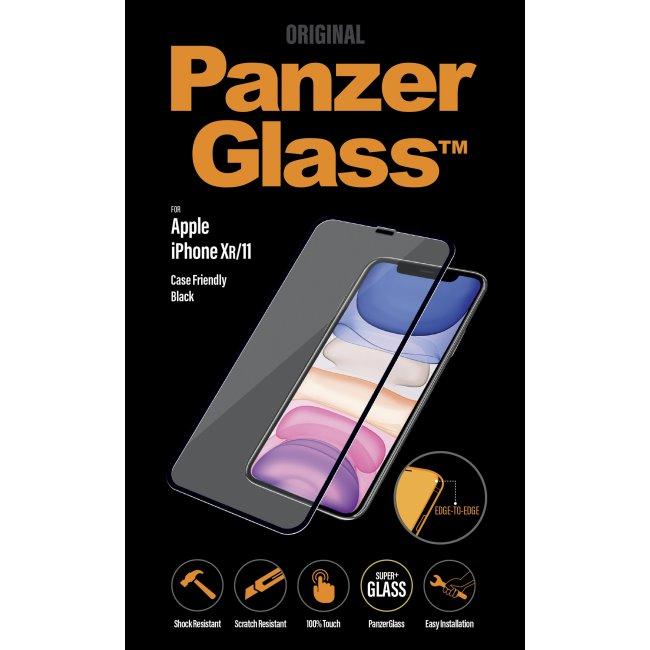 Ochranné temperované sklo PanzerGlass Case Friendly pre Apple iPhone 11/XR, čierne