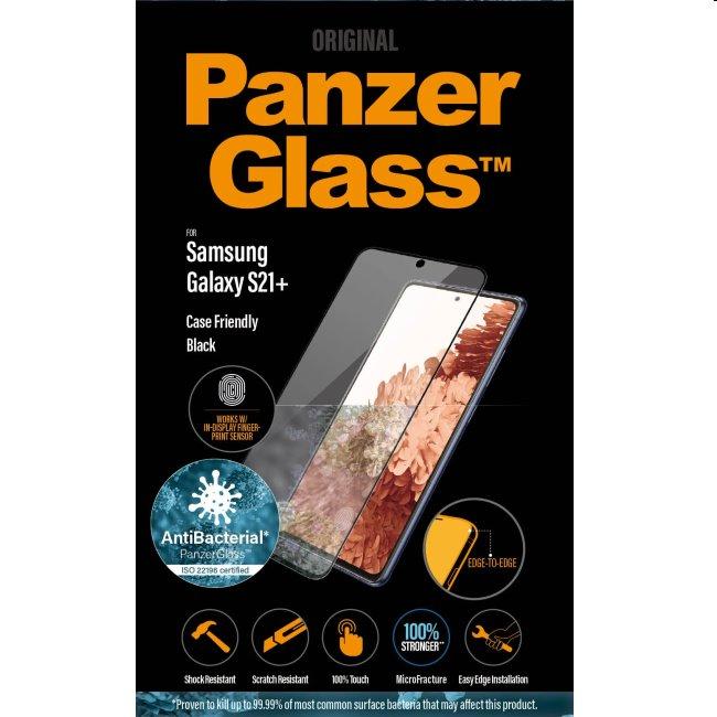 Ochranné temperované sklo PanzerGlass Case Friendly pre Samsung Galaxy S21 Plus - G996B, Fingerprint komp., black