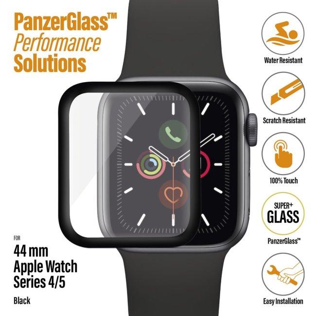 Ochranné temperované sklo PanzerGlass pre Apple Watch 4/5 44 mm, black