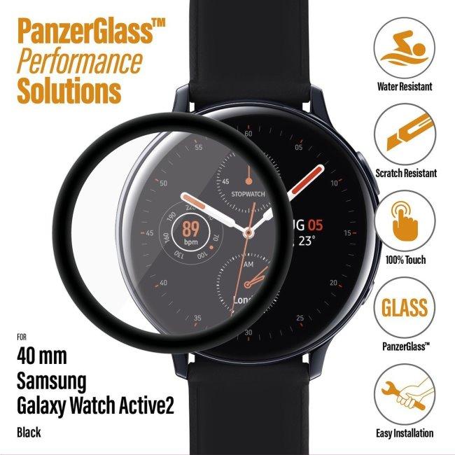Ochranné temperované sklo PanzerGlass pre Samsung Galaxy Watch Active 2 40mm, black