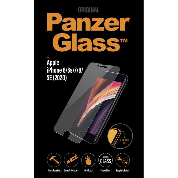 Ochranné temperované sklo PanzerGlass Standard Fit pre Apple iPhone SE/8/7/6s/6