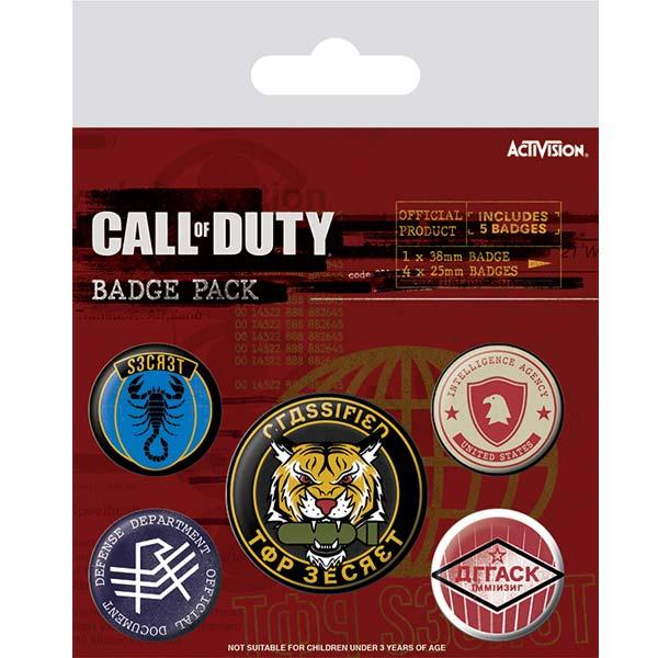 Odznakový balíček Top Secret (Call of Duty Black Ops: Cold War) BP80705