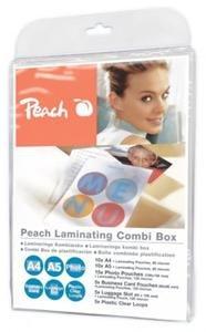 PEACH Set laminovacích folií 10ks A4, 5ks Fotosize, 5ks Vizi