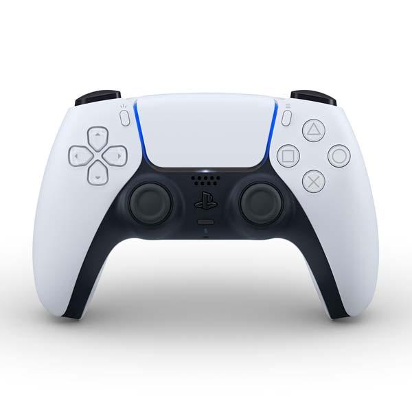 PlayStation 5 DualSense Wireless Controller, black & white - BAZÁR (použitý tovar , zmluvná záruka 12 mesiacov)