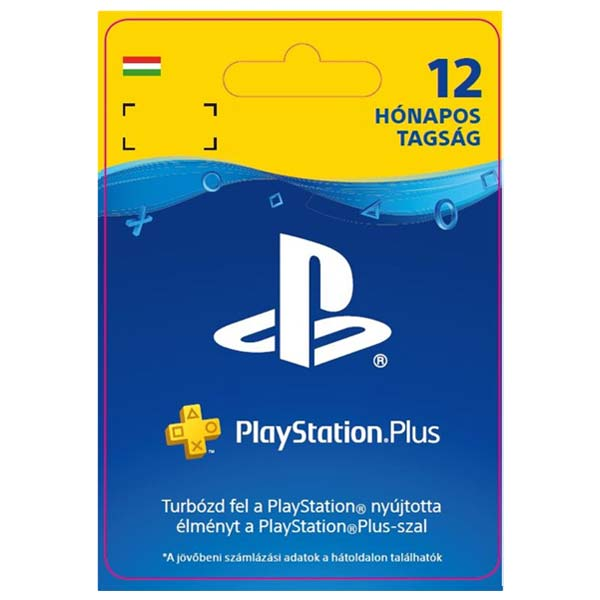 Playstation Plus kártya 12 hónapos (Sony PlayStation Plus: 12 Month Membership HU ESD)