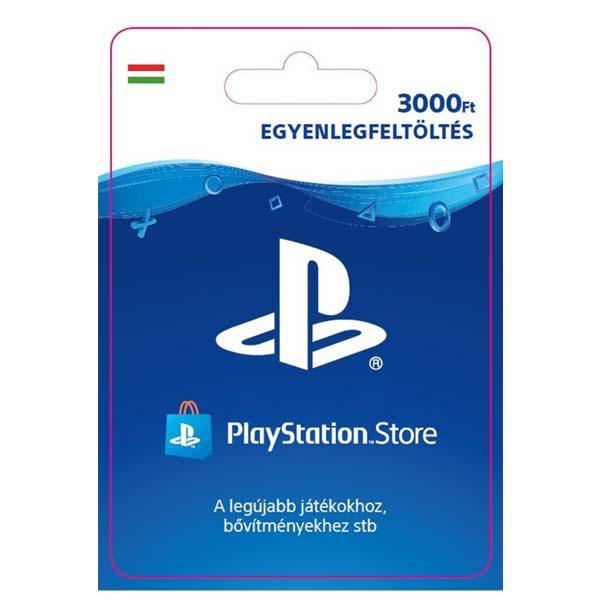Playstation Plus kártya 3000 HUF (Sony PlayStation Network Card HU ESD)