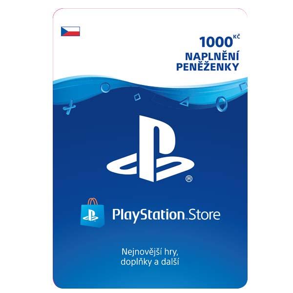 PlayStation Store 1000 Kč - elektronická peňaženka