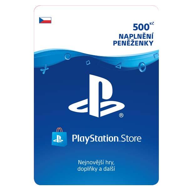 PlayStation Store naplnenie peňaženky 500 Kč
