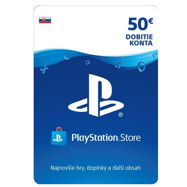 PlayStation Store naplnenie peňaženky 50€