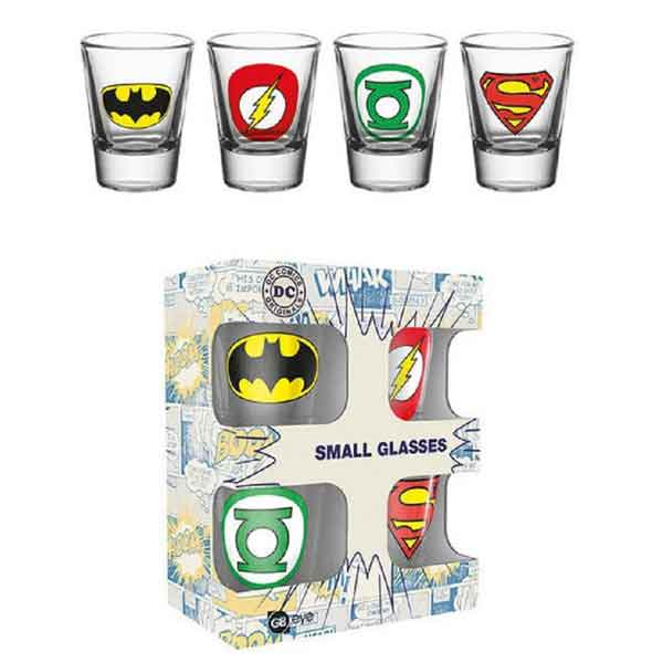 Poháriky DC Comics - Logo's Set (4 ks)