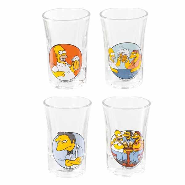 Poháriky Simpsons - To Alcohol! (4 ks)