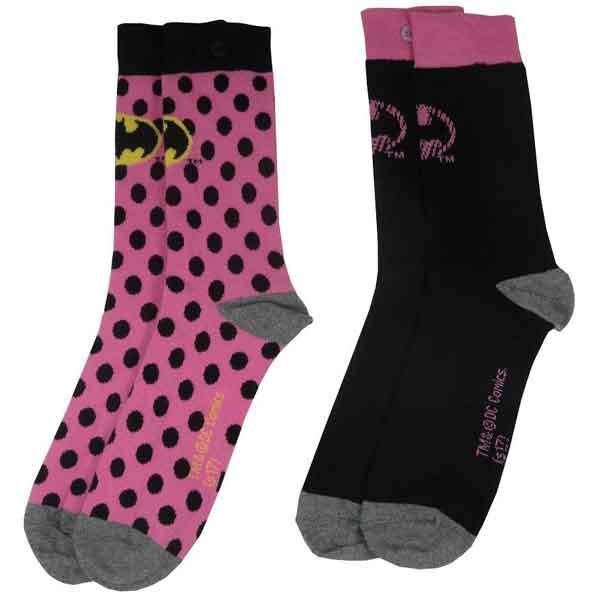 Ponožky DC Comic Batman Pink 37/41 (2-Pack)