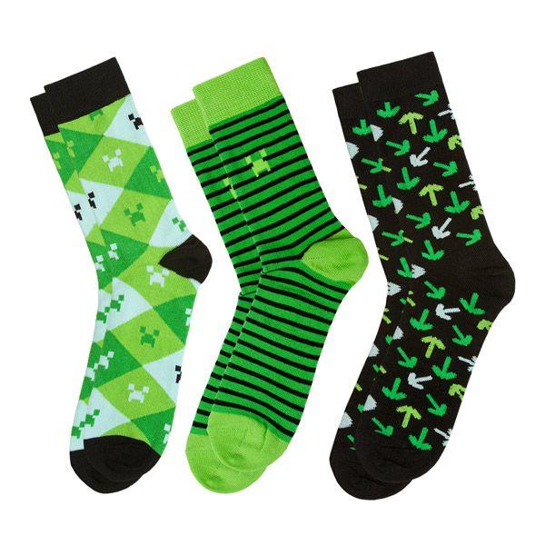 Ponožky Minecraft 3 Pack, green S