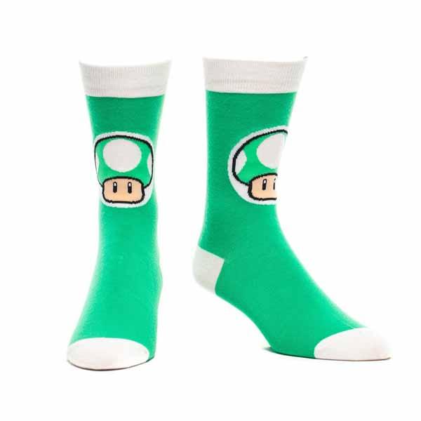 Ponožky Nintendo - Mushroom, Green 43/46