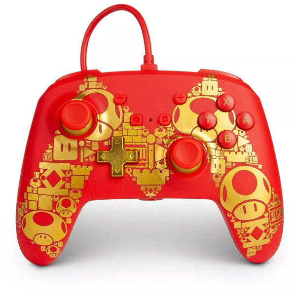 PowerA Enhanced Wired Controller - Golden M for Nintendo Switch