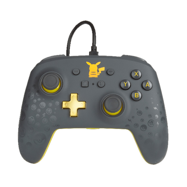 PowerA Enhanced Wired Controller - Pikachu Grey for Nintendo Switch