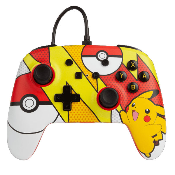 PowerA Enhanced Wired Controller - Pikachu Pop Art for Nintendo Switch