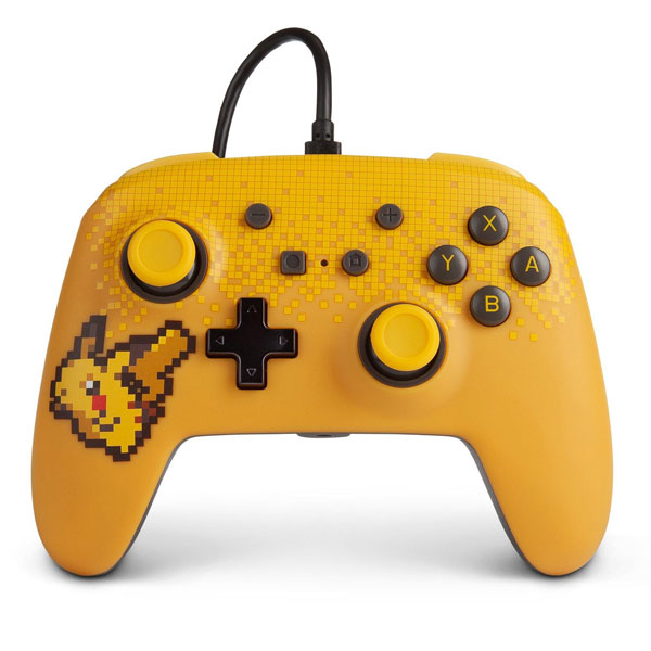 PowerA Enhanced Wired Controller - Pixel Pikachu for Nintendo Switch
