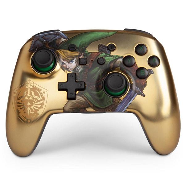 PowerA Enhanced Wireless Controller - Link Gold for Nintendo Switch
