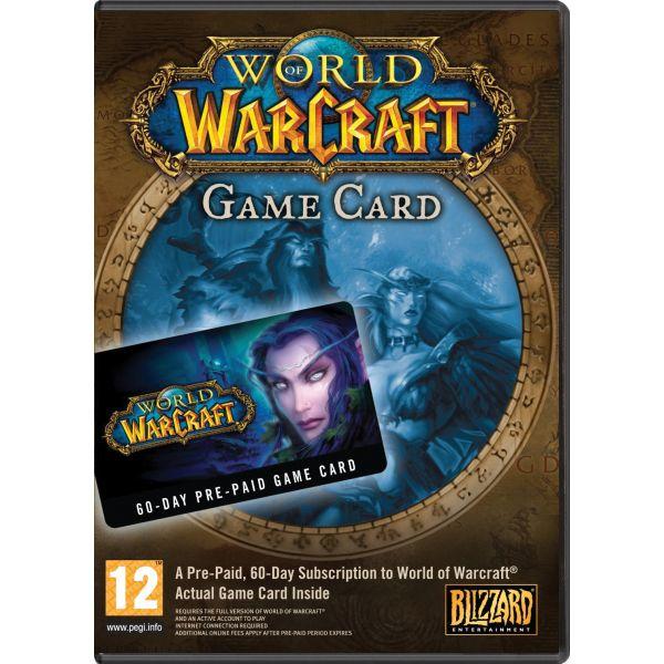 Predplatená 60 dòová karta World of Warcraft