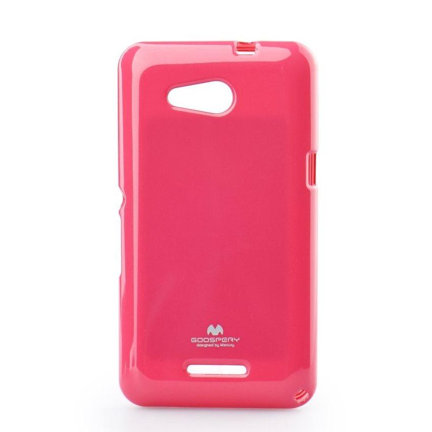 Premiové silikonové puzdro Jelly Mercury pre Sony Xperia E4g - E2003, Pink