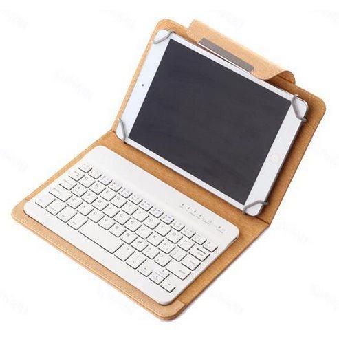 Puzdro BestCase Elegance s Bluetooth klávesnicou pre Prestigio MultiPad Visconte Quad - PMP880, Gold