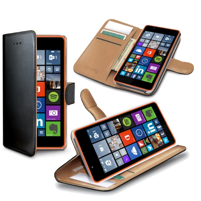 Puzdro Celly Wally pre Microsoft Lumia 540 a Lumia 540 Dual Sim, Black