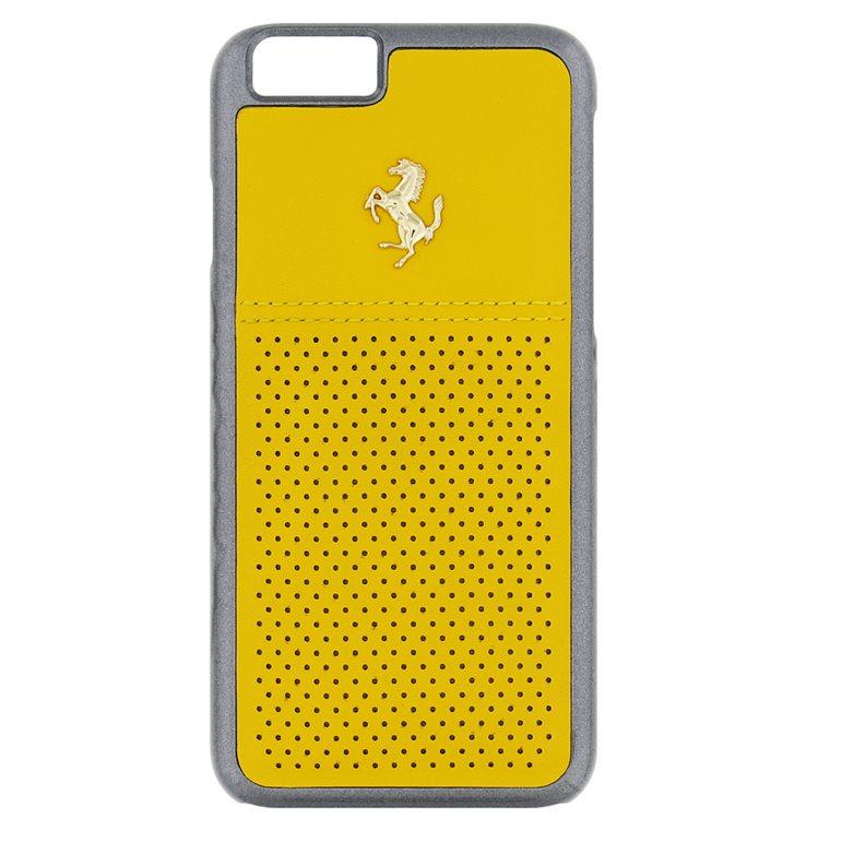 Puzdro Ferrari Leather Hard pre Apple iPhone 6 a Apple iPhone 6S, Yellow