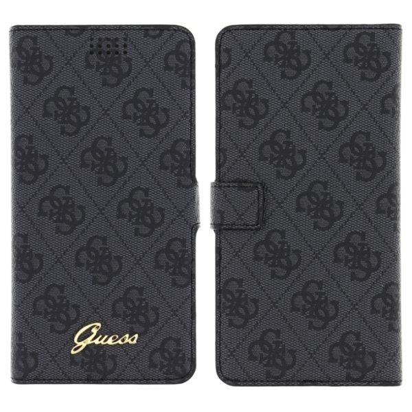 Puzdro Guess 4G Book pre váš smartfón XL, Grey
