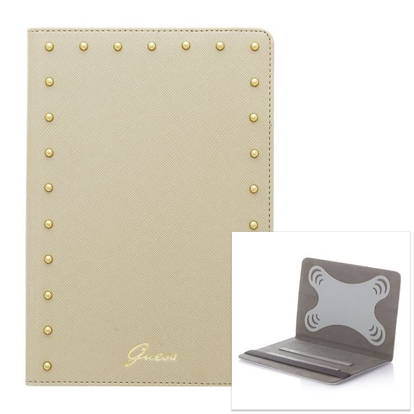 Puzdro Guess Studded pre PocketBook SURFpad 4 M, Cream