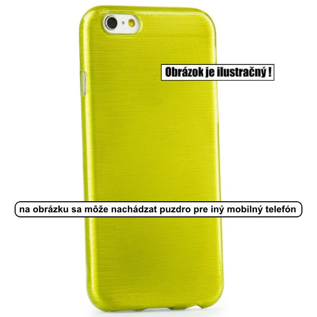 Puzdro Jelly Case Brush pre Microsoft Lumia 950, Green