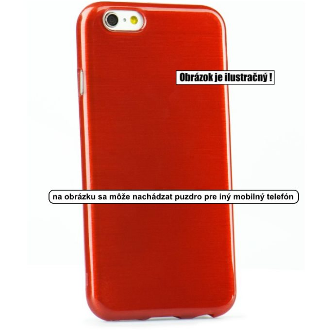 Puzdro Jelly Case Brush pre Microsoft Lumia 950 XL, Red