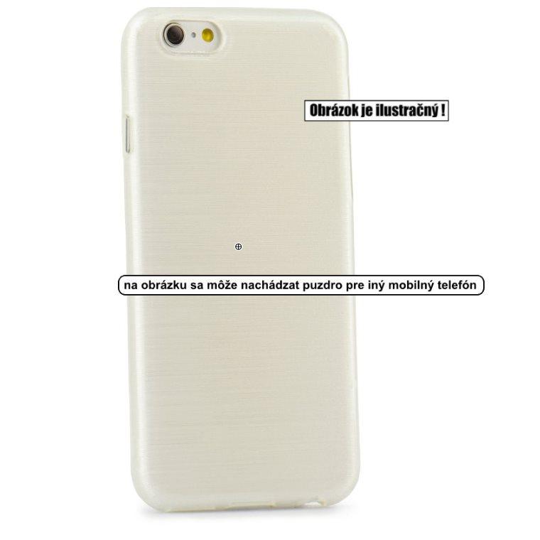 Puzdro Jelly Case Brush pre Microsoft Lumia 950 XL, White