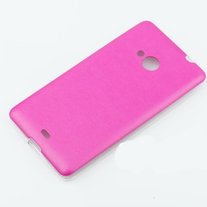 Puzdro Jelly Leather pre Microsoft Lumia 540, Pink