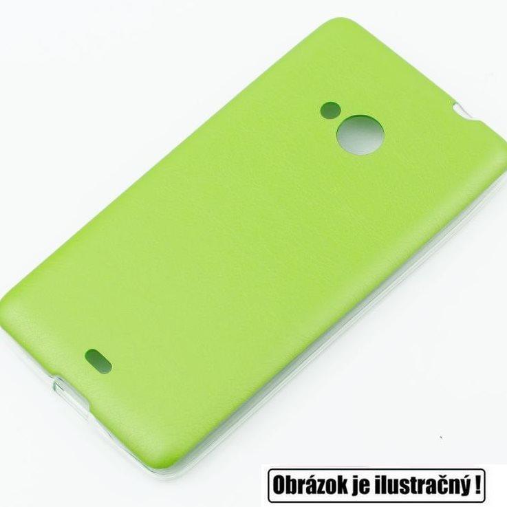 Puzdro Jelly Leather pre Microsoft Lumia 640 a 640 LTE, Lime