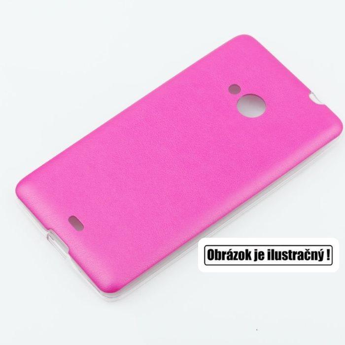 Puzdro Jelly Leather pre Microsoft Lumia 640 a 640 LTE, Pink