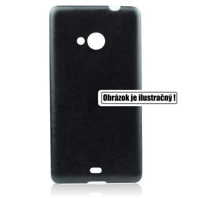 Puzdro Jelly Leather pre Samsung Galaxy J5 - J500 a J5 Dual, Black