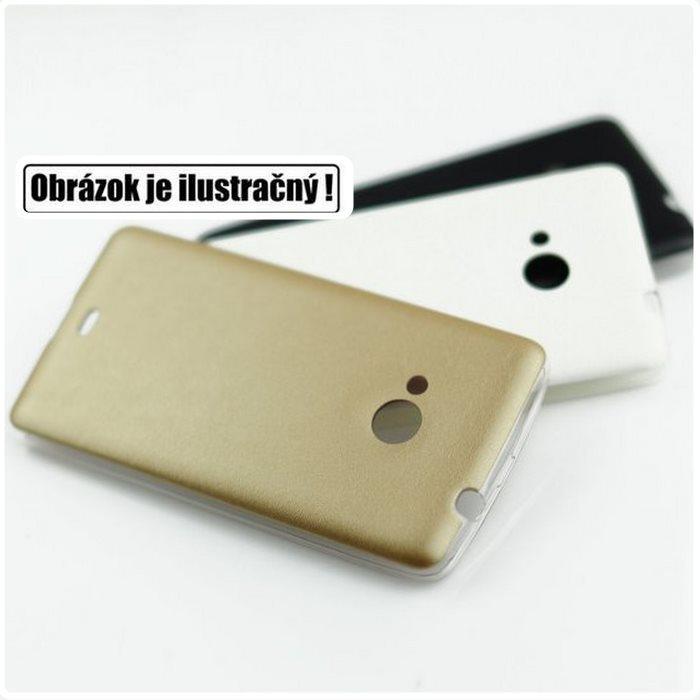 Puzdro Jelly Leather pre Samsung Galaxy J5 - J500 a J5 Dual, Gold