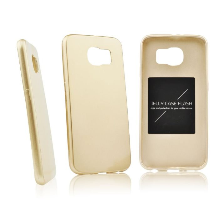 Puzdro Jelly Mercury Flash pre Samsung Galaxy S6 - Edge - G925F, Gold