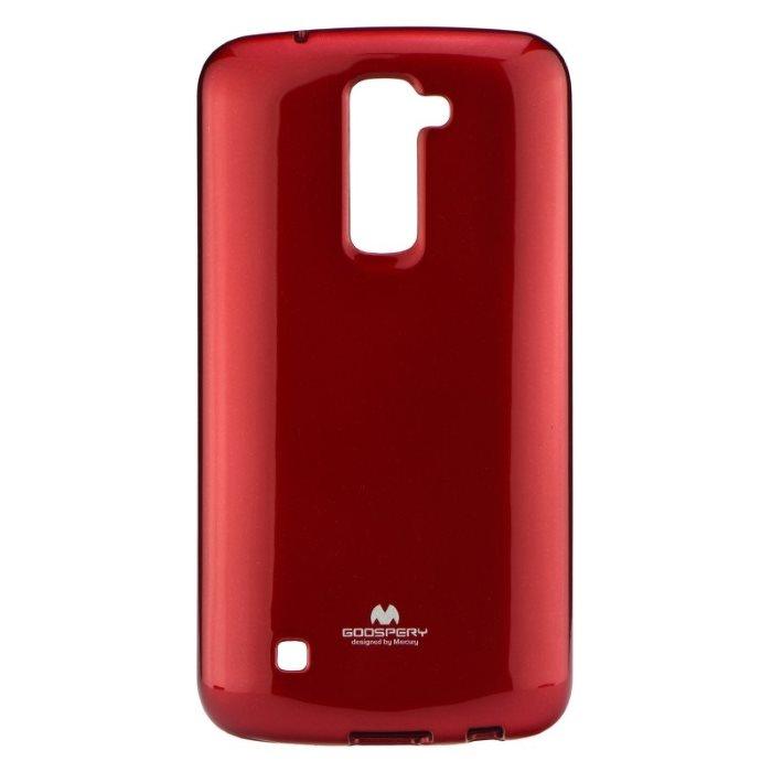 Puzdro Jelly Mercury pre LG K10 - K420n, Red