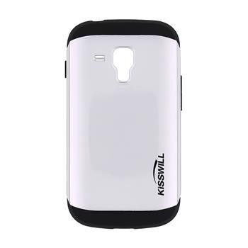 Puzdro Kisswill Slim Armor pre Samsung Galaxy S7560/S7562/S7580/S7582, Silver